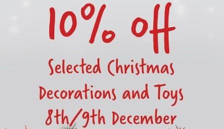 Christmas Discounts 8th & 9th Dec