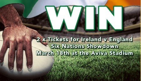 WIN Tickets for Ireland v England Rugby Match on 18th March