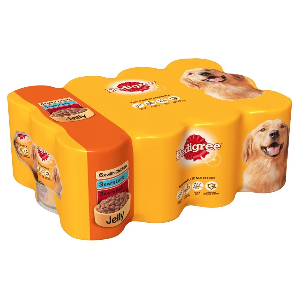 Pedigree Wet Dog Food in Jelly Canned Tin Various Flavours ... |Pedigree Dog Food Can