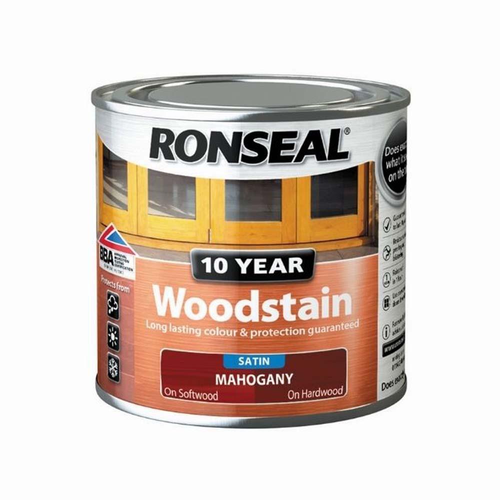 RONSEAL 10 YEAR WOODSTAIN SATIN MAHOGANY 250ML
