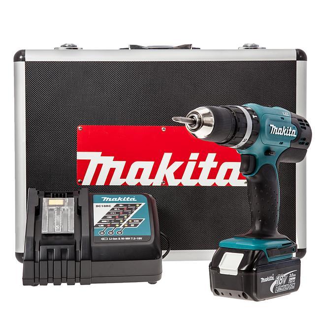 MAKITA 8391 DWPETK 18V COMBI DRILL C-W 1 BATTERY