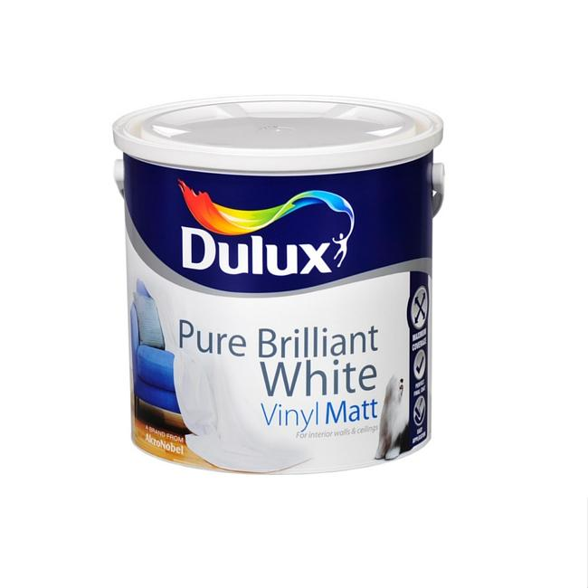 DULUX VINYL MATT-VINYL SOFT SHEEN WHITE 2.5 LITRE