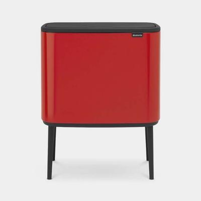 BRABANTIA BO TOUCH BIN 11+23 LTR PASSION RED