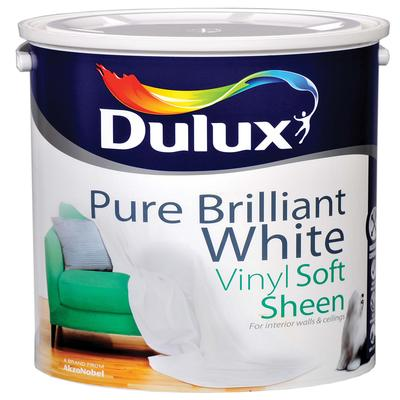 DULUX VINYL SOFT SHEEN-VINYL MATT PURE BRILLIANT WHITE 5 LTS