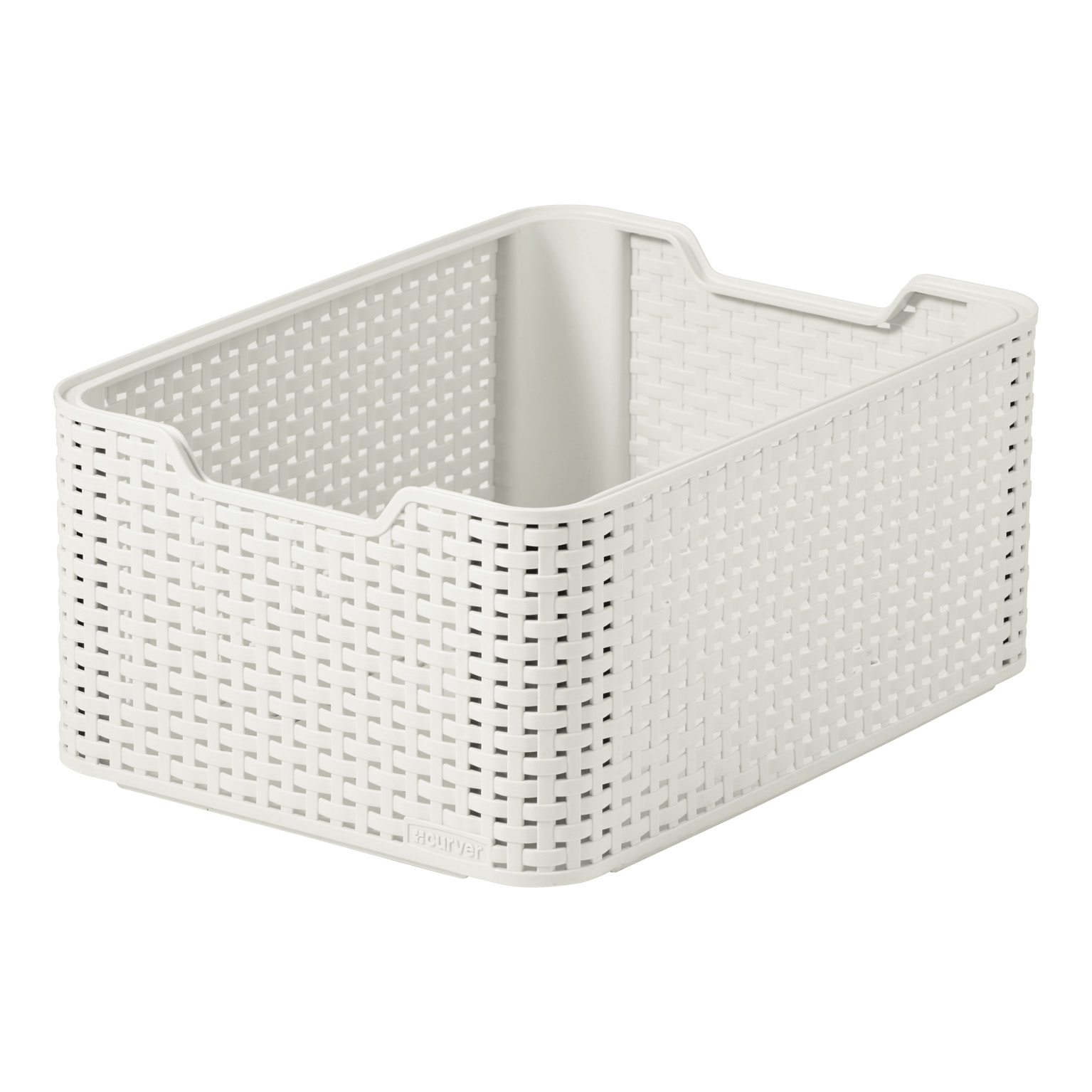 CURVER STORAGE RATTAN BOX MEDIUM WHITE