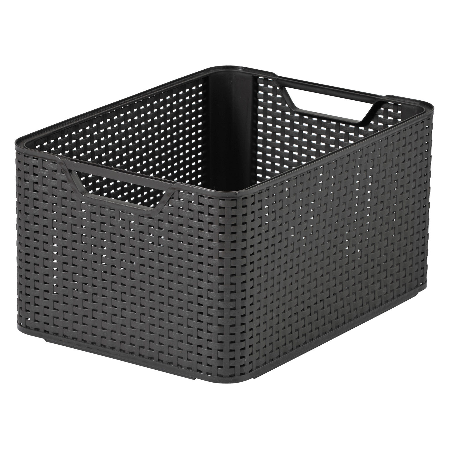 CURVER STORAGE RATTAN BOX LARGE BROWN