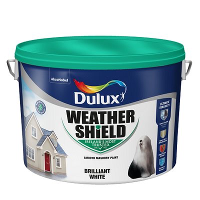 DULUX WEATHERSHIELD - BRILLANT WHITE- 10 LITRE