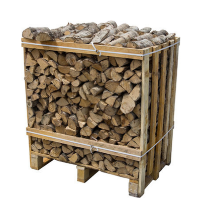 KILN DRIED HARDWOOD LOGS CRATE 1.1M3